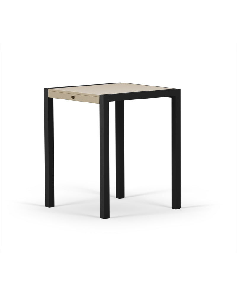 "8021-12MSA MOD SOLID 30"" Counter Table in Textured Black & Sand"