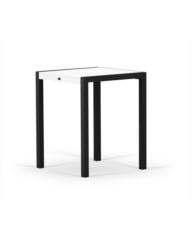 "8021-12MWH MOD SOLID 30"" Counter Table in Textured Black & White"