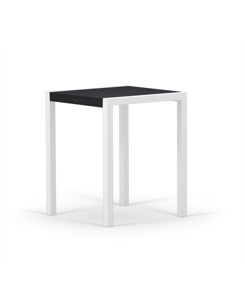 "8021-13MBL MOD SOLID 30"" Counter Table in Satin White & Black"