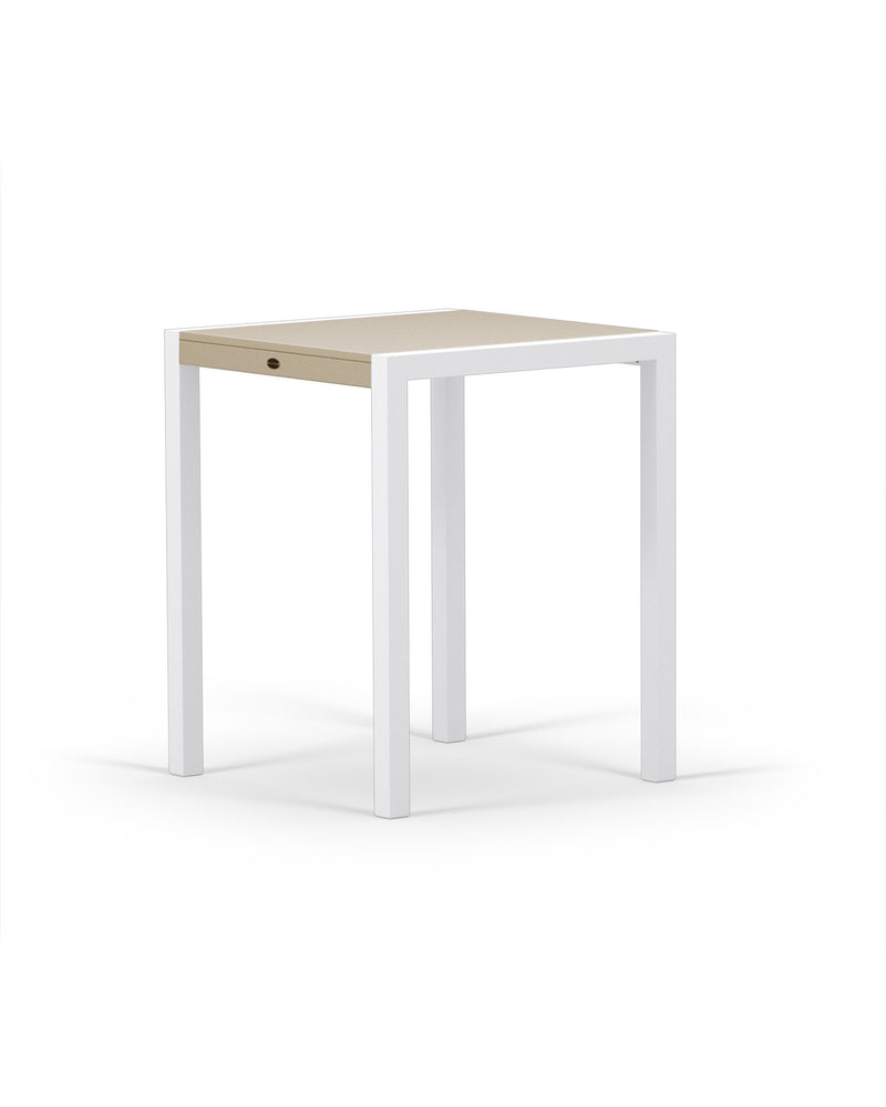 "8021-13MSA MOD SOLID 30"" Counter Table in Satin White & Sand"