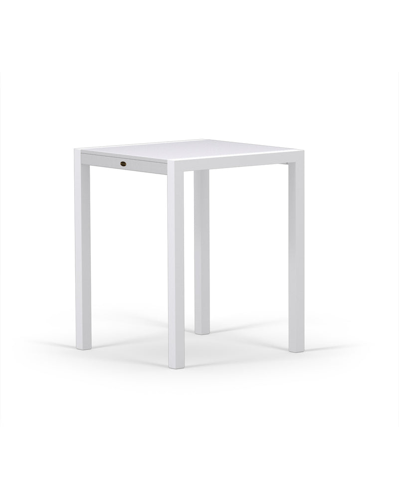 "8021-13MWH MOD SOLID 30"" Counter Table in Satin White & White"