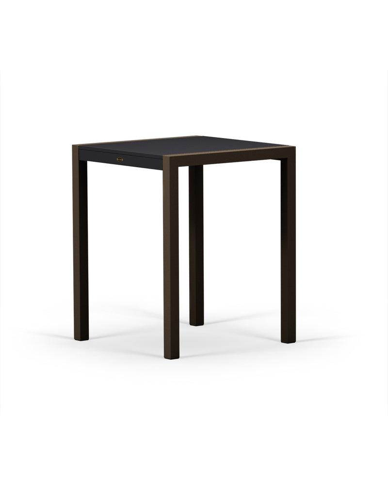 "8021-16MBL MOD SOLID 30"" Counter Table in Textured Bronze & Black"