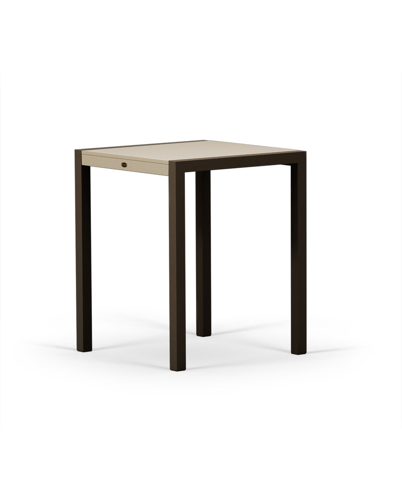 "8021-16MSA MOD SOLID 30"" Counter Table in Textured Bronze & Sand"