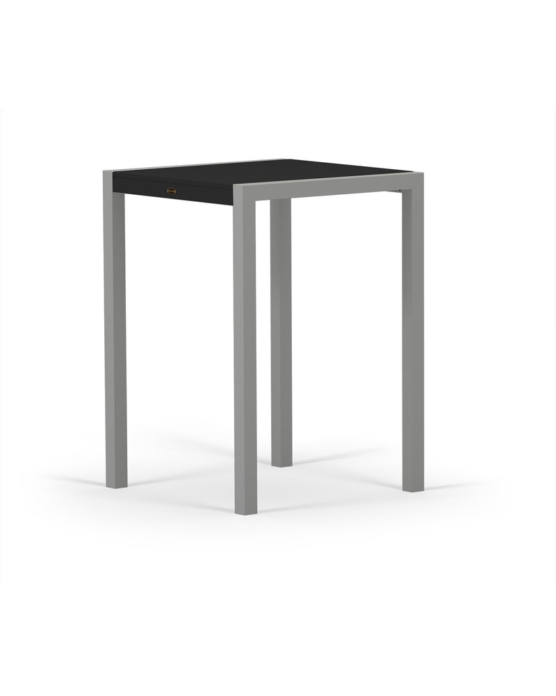 8022-11MBL MOD SOLID 30in Bar Table in Textured Silver & Black