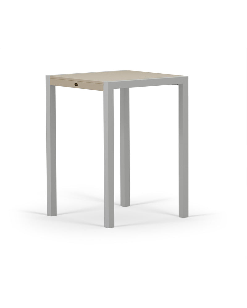 8022-11MSA MOD SOLID 30in Bar Table in Textured Silver & Sand