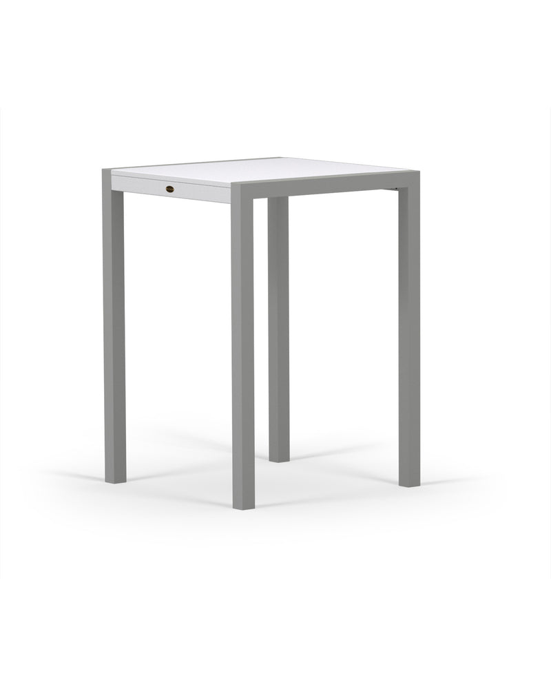 8022-11MWH MOD SOLID 30in Bar Table in Textured Silver & White