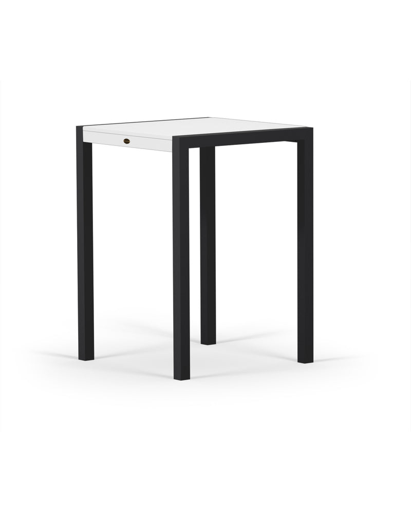8022-12MWH MOD SOLID 30in Bar Table in Textured Black & White