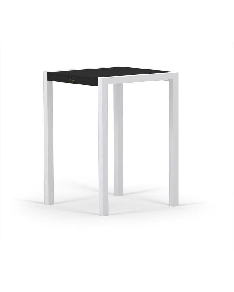 8022-13MBL MOD SOLID 30in Bar Table in Satin White & Black