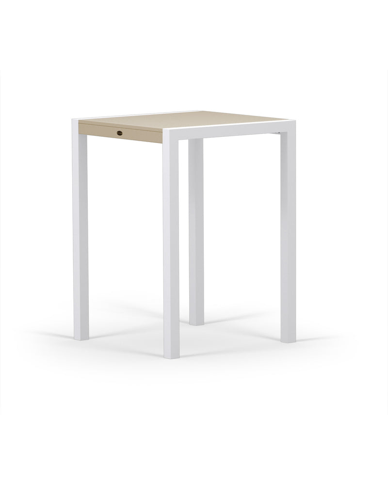 8022-13MSA MOD SOLID 30in Bar Table in Satin White & Sand