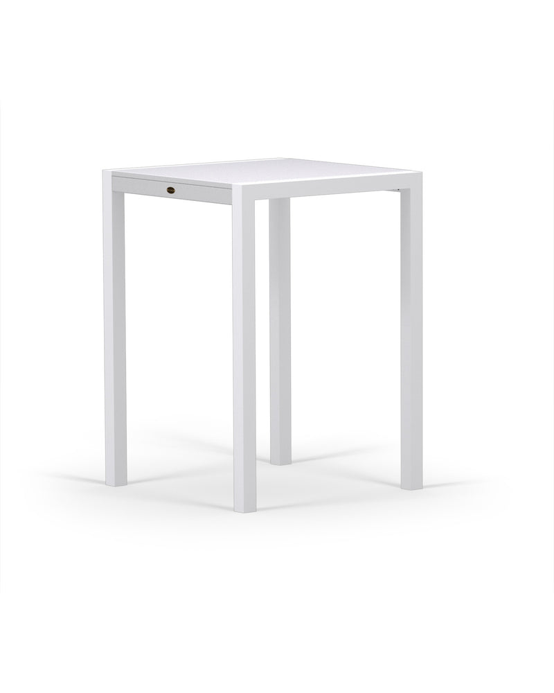 8022-13MWH MOD SOLID 30in Bar Table in Satin White & White