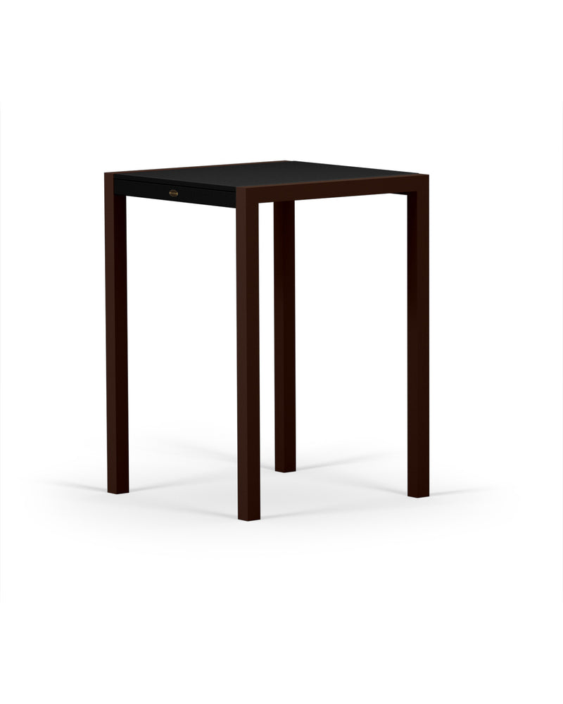 8022-16MBL MOD SOLID 30in Bar Table in Textured Bronze & Black