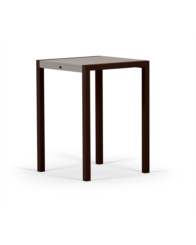 8022-16MSA MOD SOLID 30in Bar Table in Textured Bronze & Sand