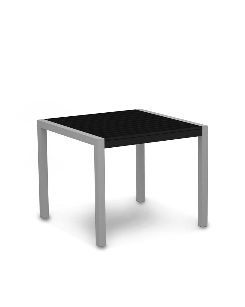 "8100-11BL MOD 36"" Dining Table in Textured Silver & Black"