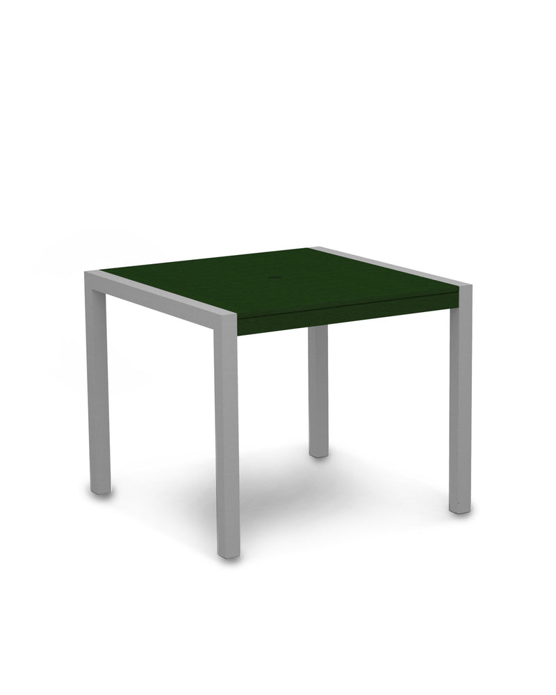 "8100-11GR MOD 36"" Dining Table in Textured Silver & Green"