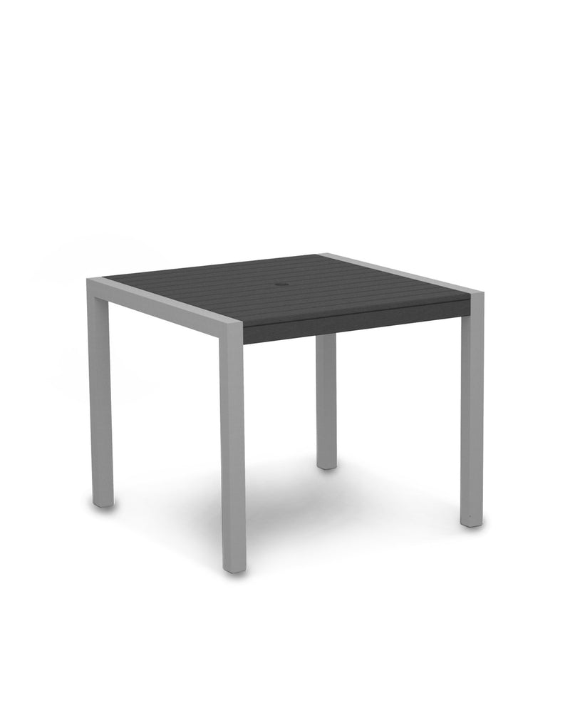 "8100-11GY MOD 36"" Dining Table in Textured Silver & Slate Grey"
