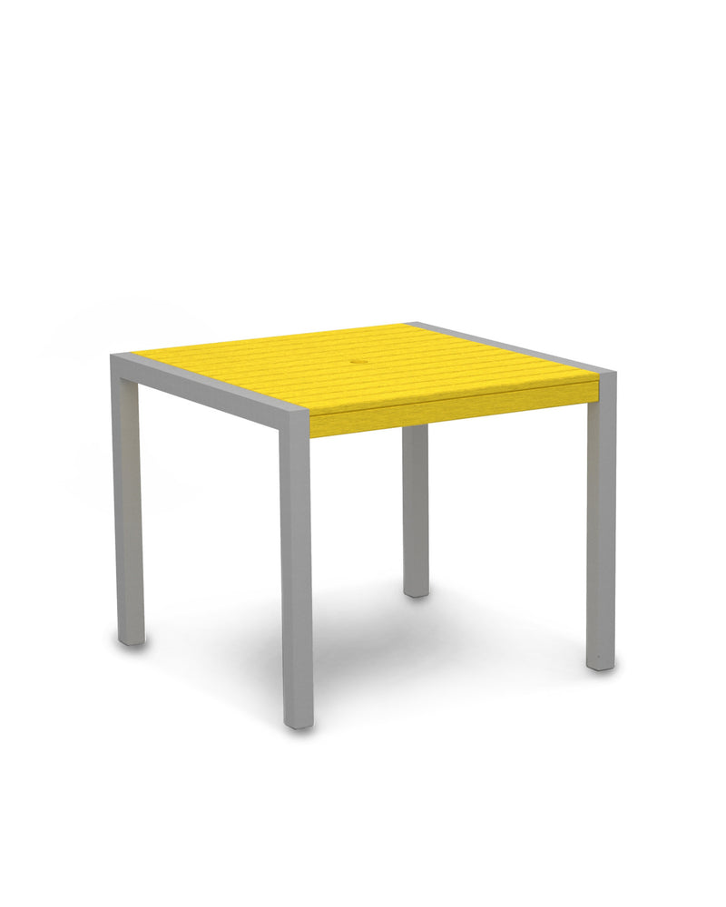 "8100-11LE MOD 36"" Dining Table in Textured Silver & Lemon"