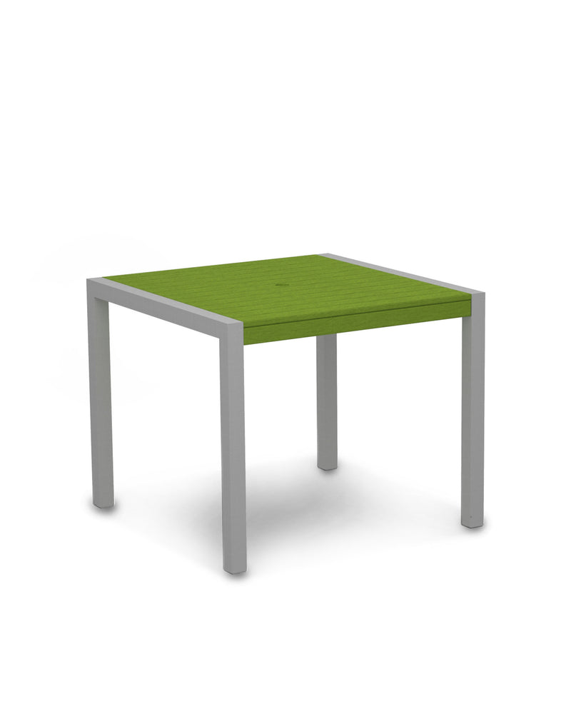 "8100-11LI MOD 36"" Dining Table in Textured Silver & Lime"