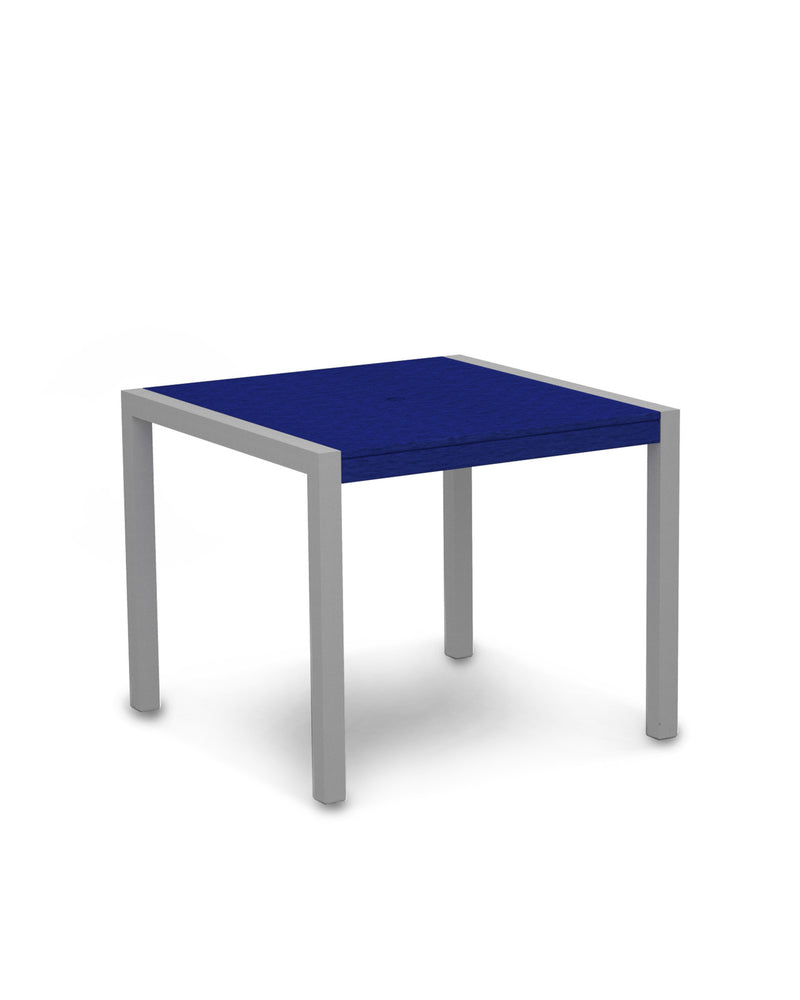 "8100-11PB MOD 36"" Dining Table in Textured Silver & Pacific Blue"