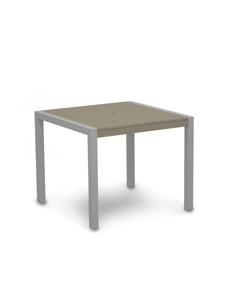 "8100-11SA MOD 36"" Dining Table in Textured Silver & Sand"