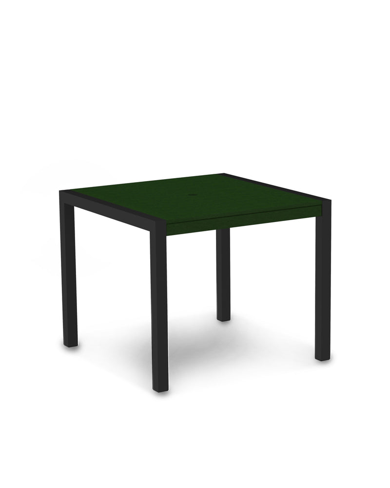 "8100-12GR MOD 36"" Dining Table in Textured Black & Green"