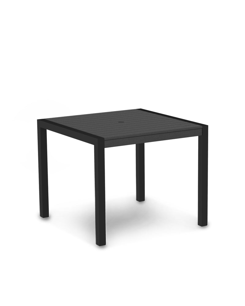 "8100-12GY MOD 36"" Dining Table in Textured Black & Slate Grey"