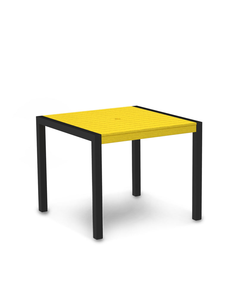 "8100-12LE MOD 36"" Dining Table in Textured Black & Lemon"