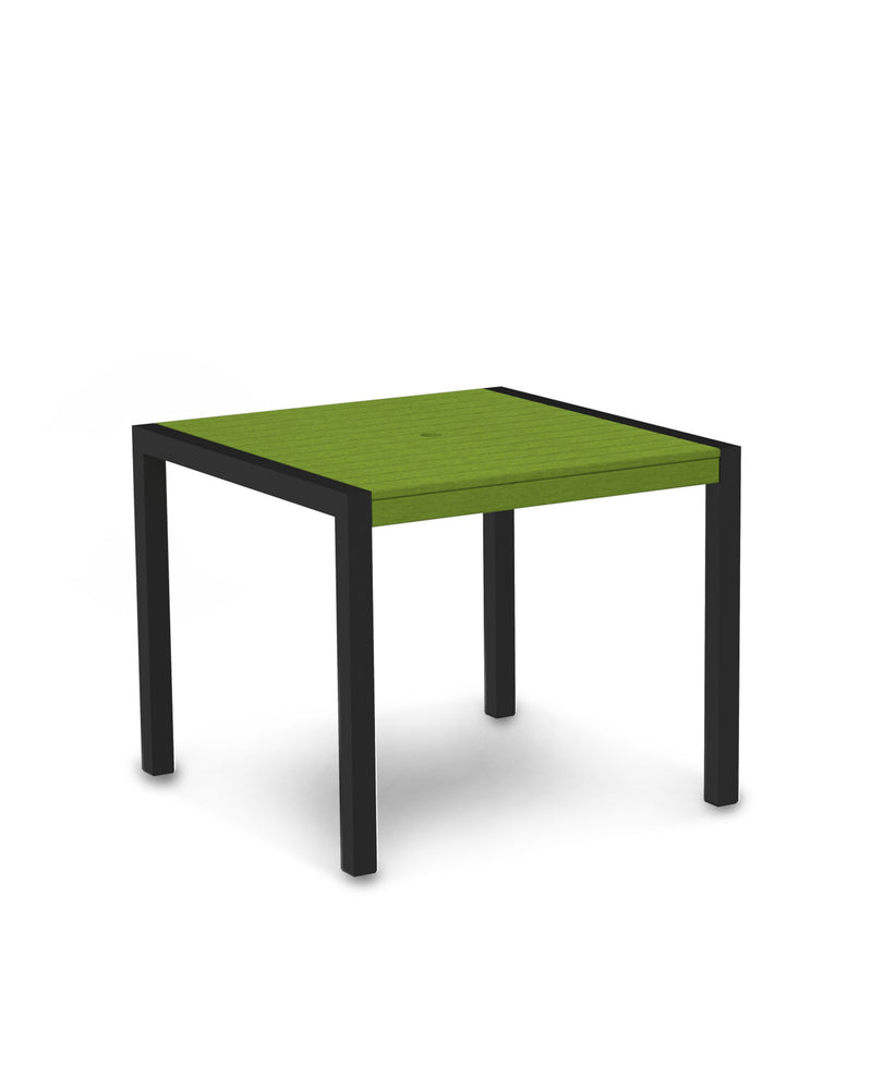 "8100-12LI MOD 36"" Dining Table in Textured Black & Lime"
