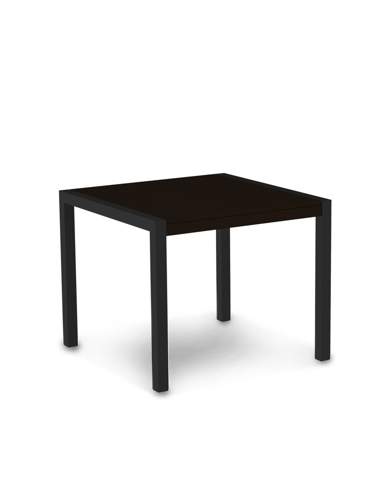 "8100-12MA MOD 36"" Dining Table in Textured Black & Mahogany"