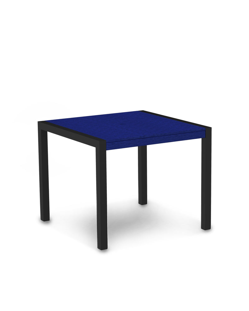 "8100-12PB MOD 36"" Dining Table in Textured Black & Pacific Blue"