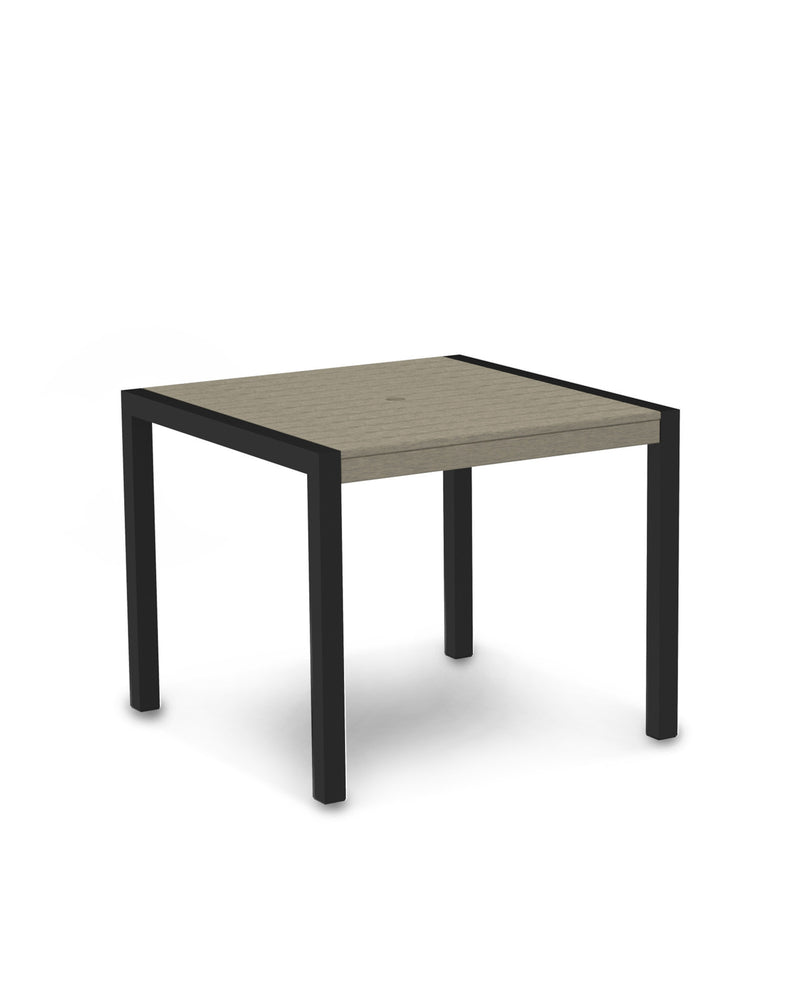 "8100-12SA MOD 36"" Dining Table in Textured Black & Sand"