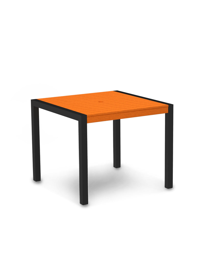 "8100-12TA MOD 36"" Dining Table in Textured Black & Tangerine"