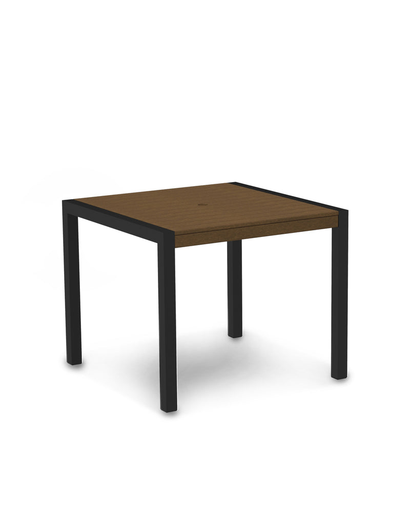 "8100-12TE MOD 36"" Dining Table in Textured Black & Teak"