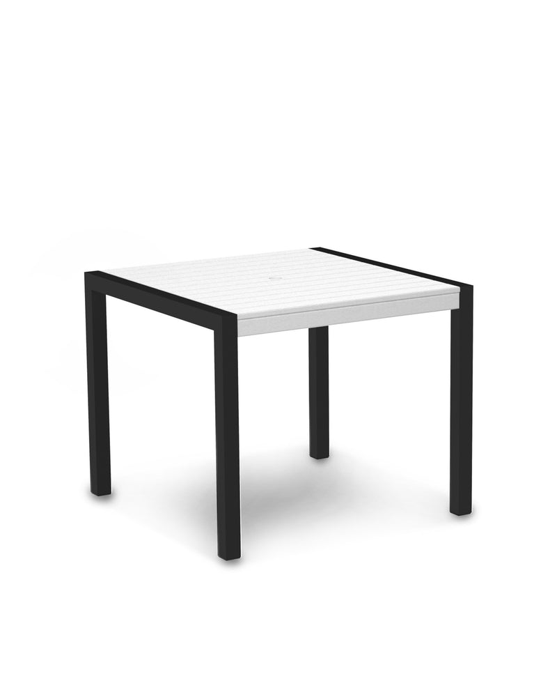 "8100-12WH MOD 36"" Dining Table in Textured Black & White"