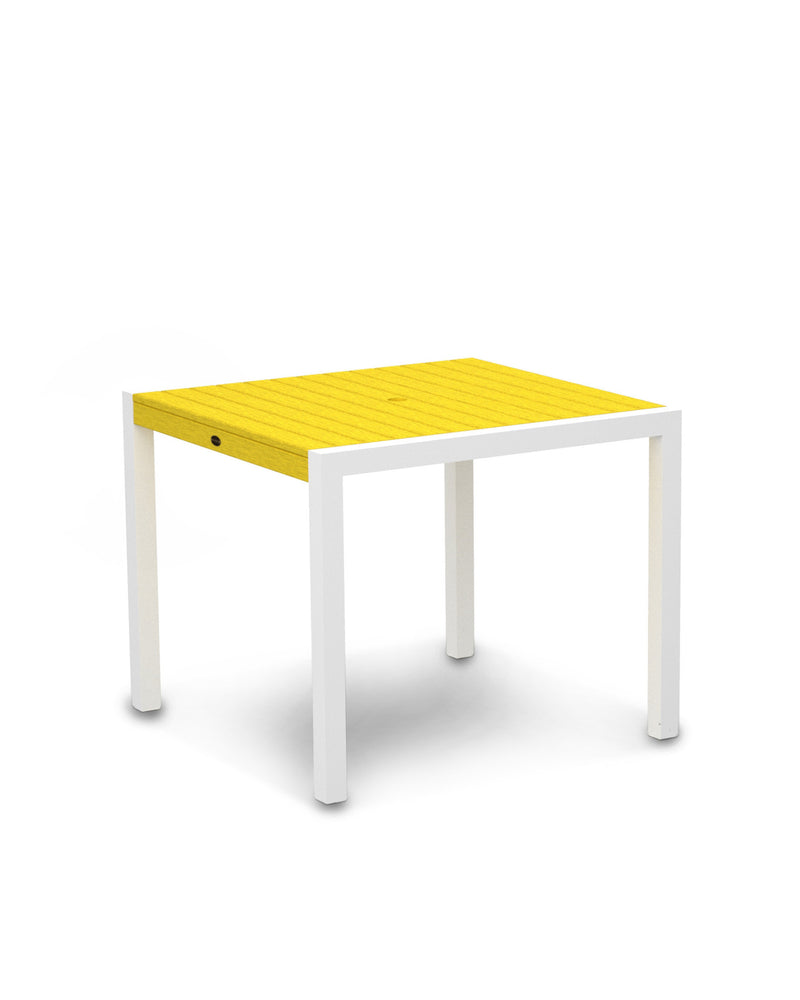 "8100-13LE MOD 36"" Dining Table in Satin White & Lemon"