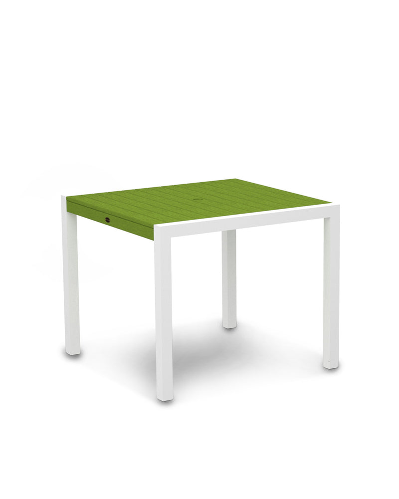 "8100-13LI MOD 36"" Dining Table in Satin White & Lime"