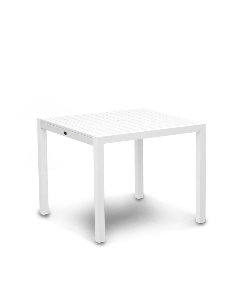 "8100-13WH MOD 36"" Dining Table in Satin White & White"