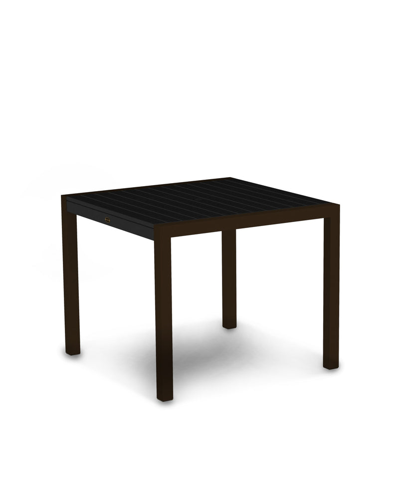 "8100-16BL MOD 36"" Dining Table in Textured Bronze & Black"
