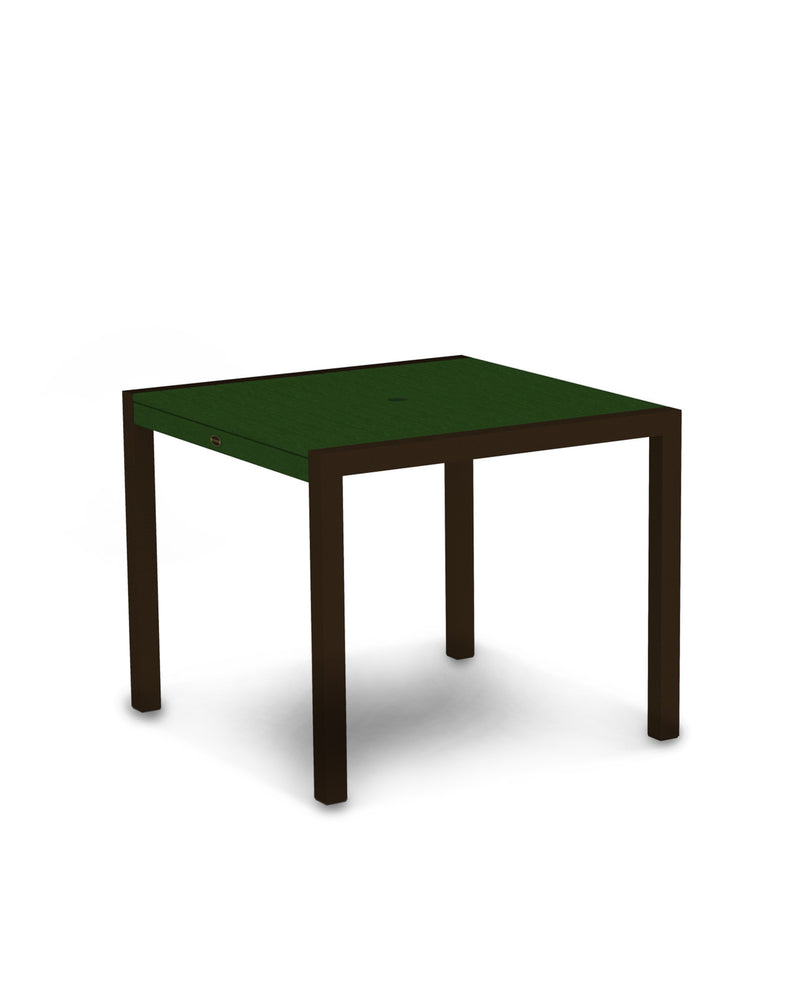 "8100-16GR MOD 36"" Dining Table in Textured Bronze & Green"