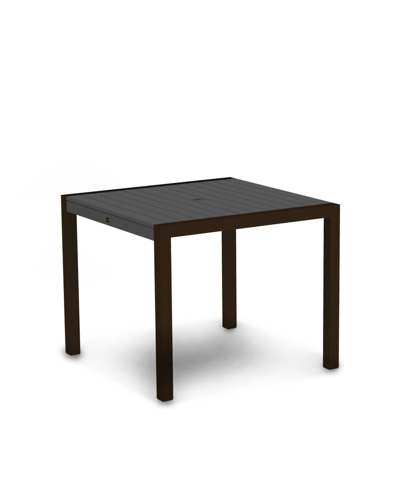 "8100-16GY MOD 36"" Dining Table in Textured Bronze & Slate Grey"