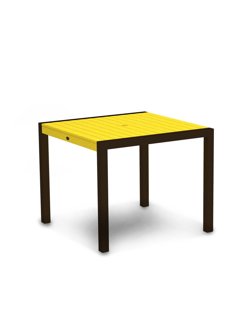 "8100-16LE MOD 36"" Dining Table in Textured Bronze & Lemon"