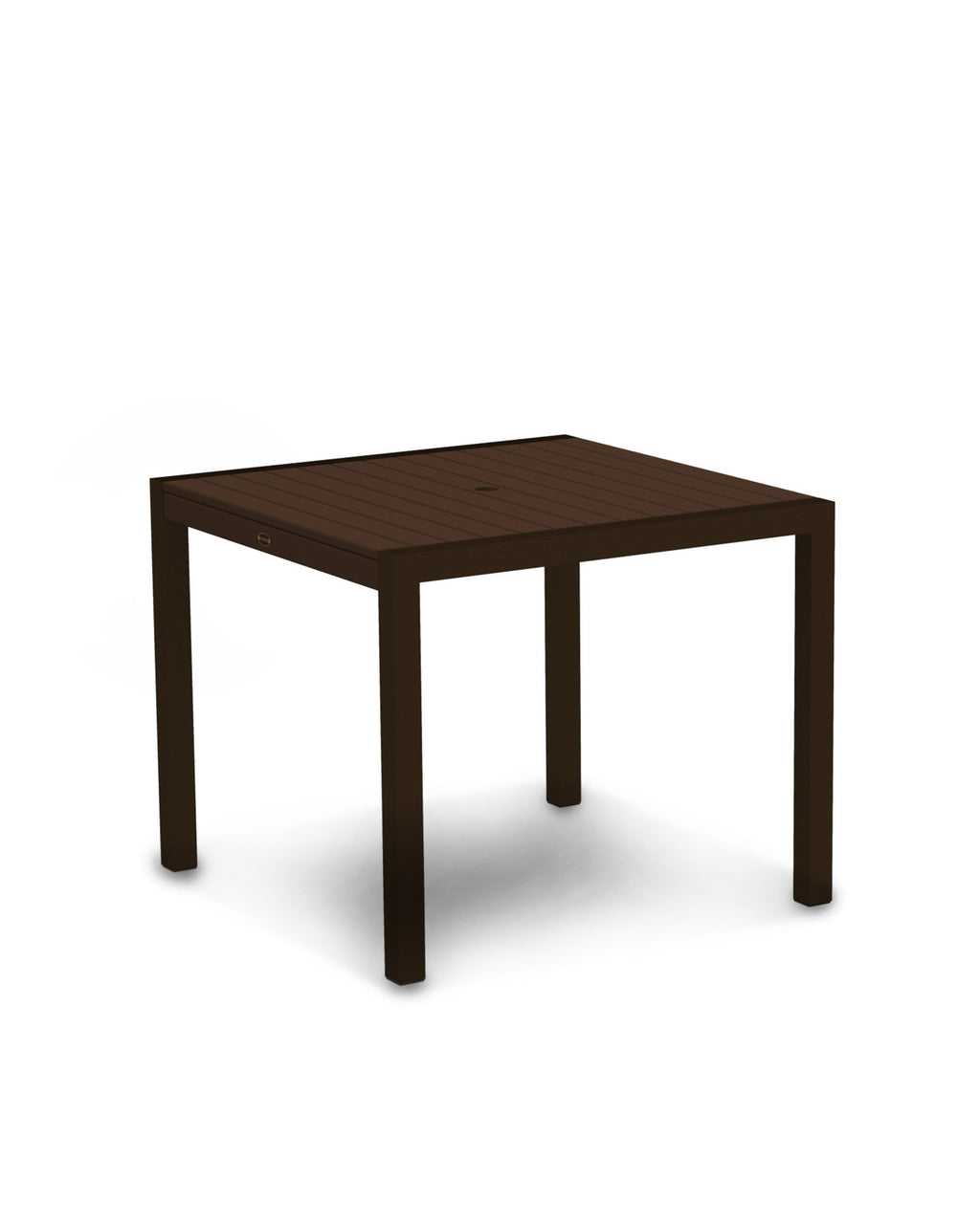 "8100-16MA MOD 36"" Dining Table in Textured Bronze & Mahogany"