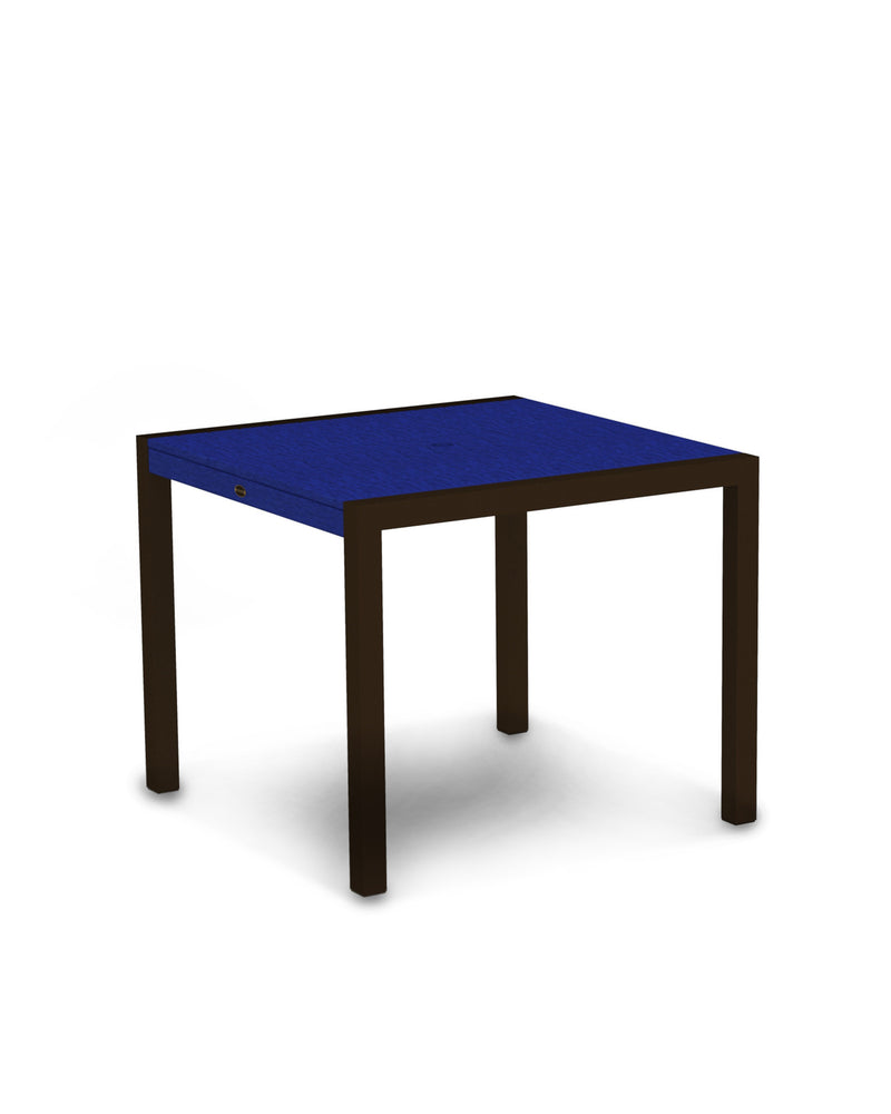 "8100-16PB MOD 36"" Dining Table in Textured Bronze & Pacific Blue"