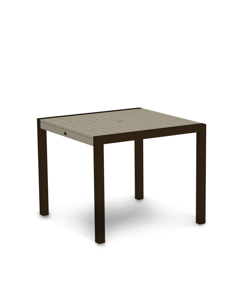 "8100-16SA MOD 36"" Dining Table in Textured Bronze & Sand"
