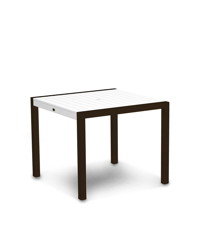 "8100-16WH MOD 36"" Dining Table in Textured Bronze & White"