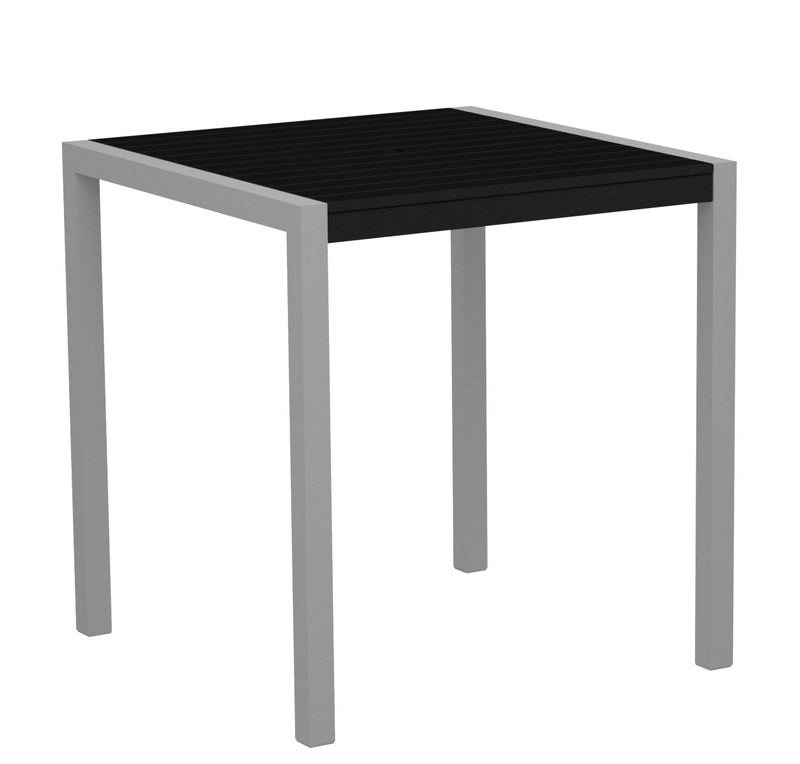 "8101-11BL MOD 36"" Counter Table in Textured Silver and Black"