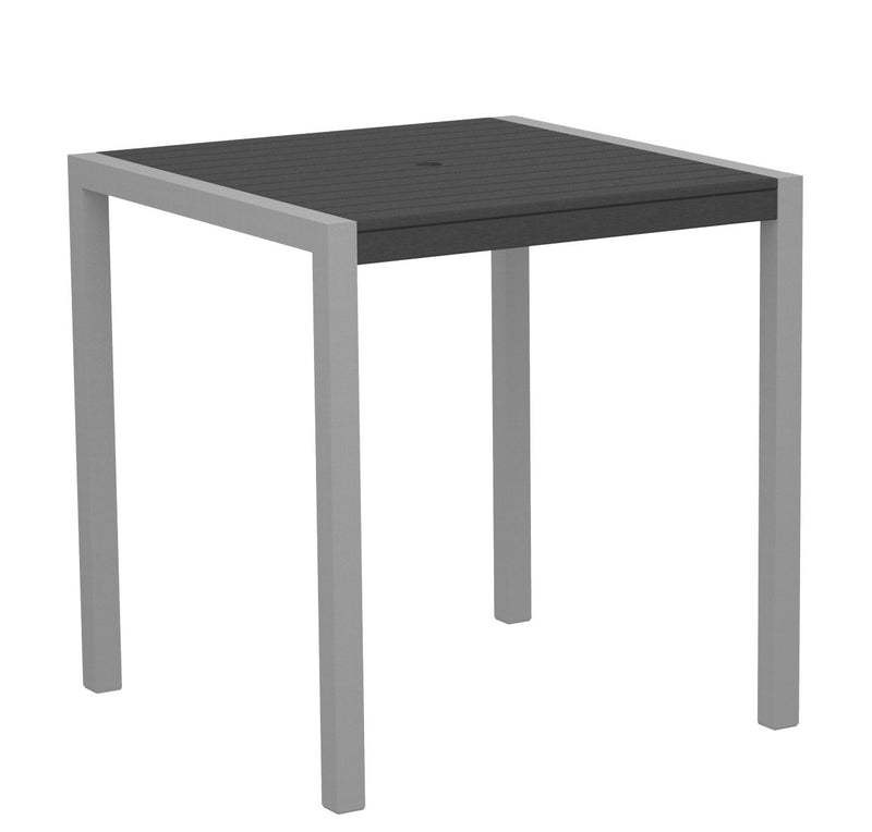 "8101-11GY MOD 36"" Counter Table in Textured Silver and Slate Grey"