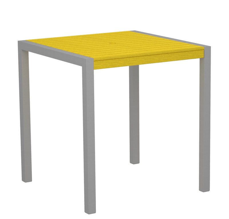 "8101-11LE MOD 36"" Counter Table in Textured Silver and Lemon"