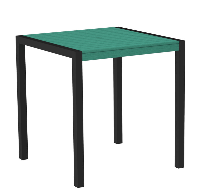 "8101-12AR MOD 36"" Counter Table in Textured Black and Aruba"