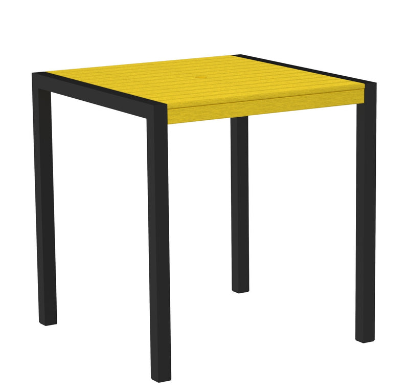 "8101-12LE MOD 36"" Counter Table in Textured Black and Lemon"
