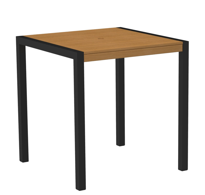 "8101-12NT MOD 36"" Counter Table in Textured Black and Plastique Natural Teak"